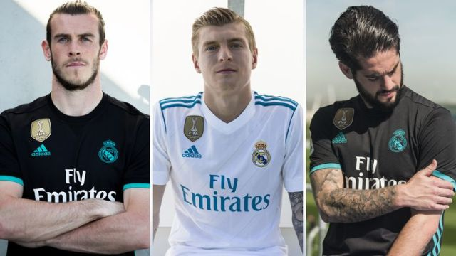The away kit sees a return to black for Real Madrid, while the home is a familiar white (credit: adidas)