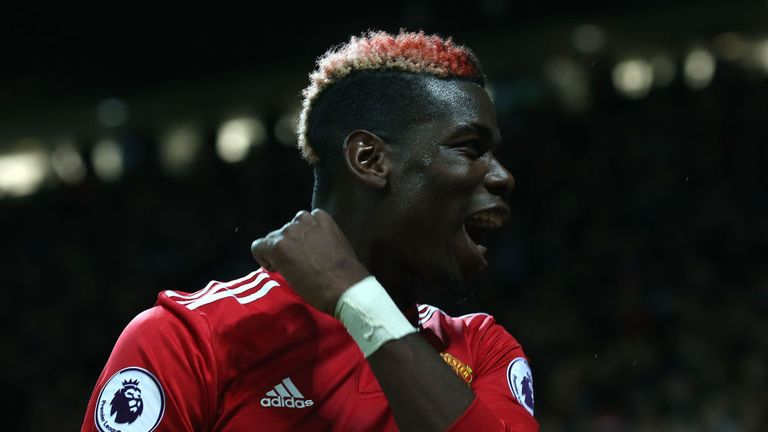 Paul Pogba scored on his return for United and was named man of the match