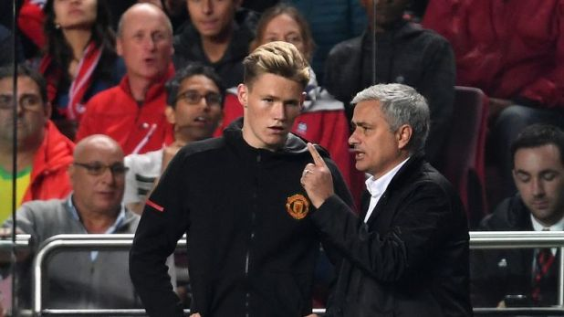 Mourinho defended his record of giving young players a chance in the United first team