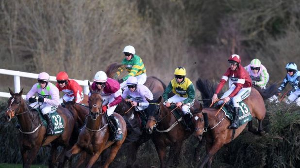 Action from the Grand National course at Aintree
