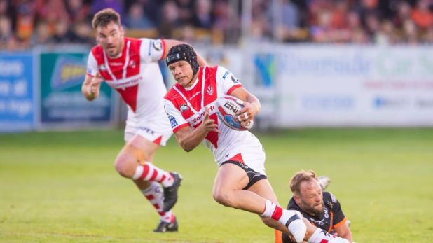 Jonny Lomax was instrumental for St Helens on the night