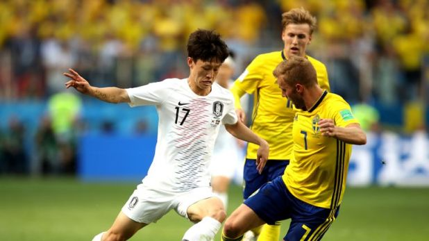 South Korea were beaten 1-0 by Sweden in their opening group game