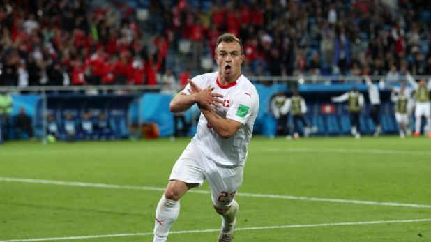 Shaqiri was fined by FIFA for making an Albanian nationalist eagle symbol against Serbia at the World Cup