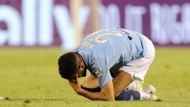 Riyad Mahrez made his debut for Man City in Chicago