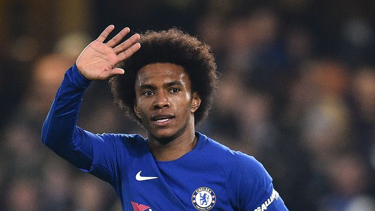 Willian has been linked with Barcelona and Manchester United