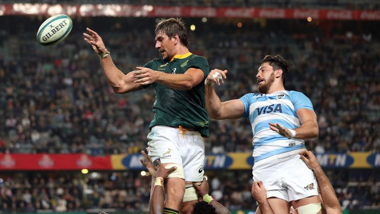 Eben Etzebeth won eight lineouts at Kings Park on Saturday