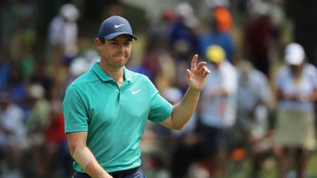 Rory McIlroy was not happy with his swing at Bellerive
