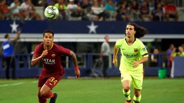 Justin Kluivert left Ajax to join Italian club Roma in the summer