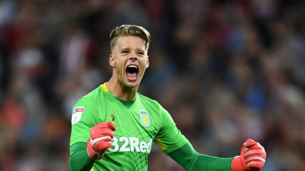Aston Villa goalkeeper Orjan Nyland faces a fight for the number one jersey with new arrival Lovre Kalinic