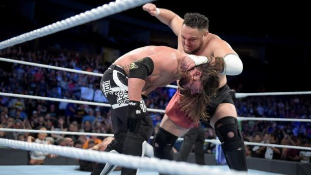 AJ Styles will defend his WWE title against Samoa Joe under no-disqualification, no-countout rules