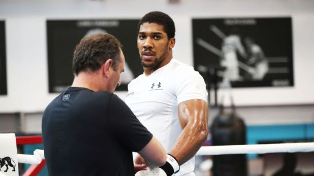 Anthony Joshua has spent weeks in the gym with trainer Rob McCracken