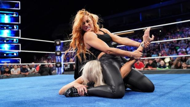 Becky Lynch put an exclamation mark on her title win over Charlotte Flair