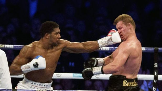 Joshua knocked Povetkin down in the seventh round