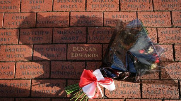 Amid the memorials to the Munich air disaster at Old Trafford is a brick paying tribute to Duncan Edwards
