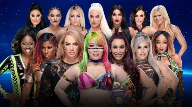 Asuka and 13 other women will bid for a WWE title shot in a battle royal at Evolution