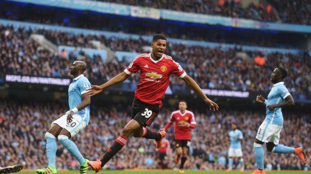 Marcus Rashford scored for Manchester United at the Etihad in 2016