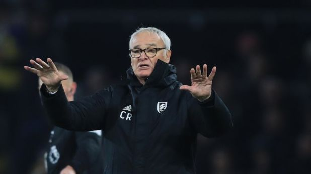 Ranieri helped lift Fulham off the bottom of the Premier League last weekend