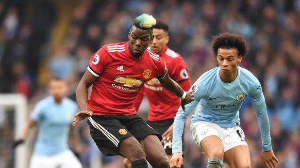 Paul Pogba scored twice as United beat City 3-2 at the Etihad last season
