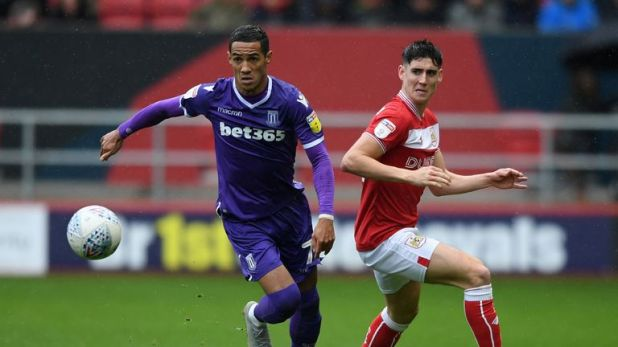 Tom Ince (left) and Callum O'Dowda in action during Stoke's goalless draw with Middlesbrough