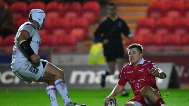 Steff Evans scored twice for Scarlets but they could not avoid a third straight loss in Europe