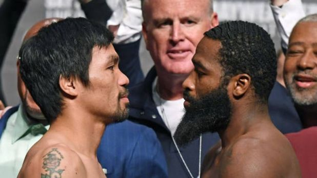 Manny Pacquiao and Adrien Broner both made the 147lbs limit
