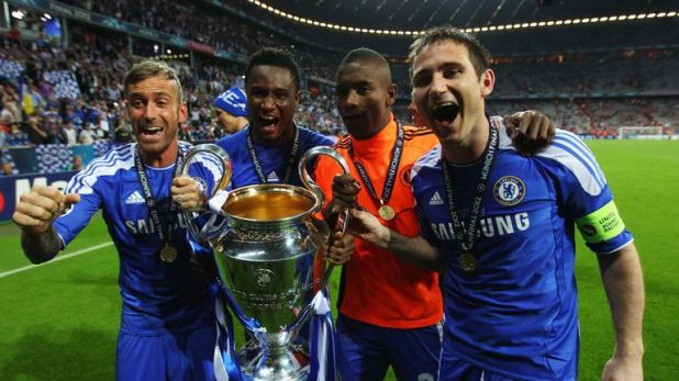 Lampard won the Champions League with Chelsea in 2012