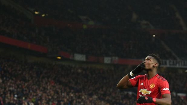 Paul Pogba celebrates making it 1-0