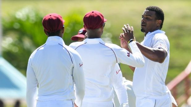 Joe Root suggested Shannon Gabriel (right) said something he 'might regret'