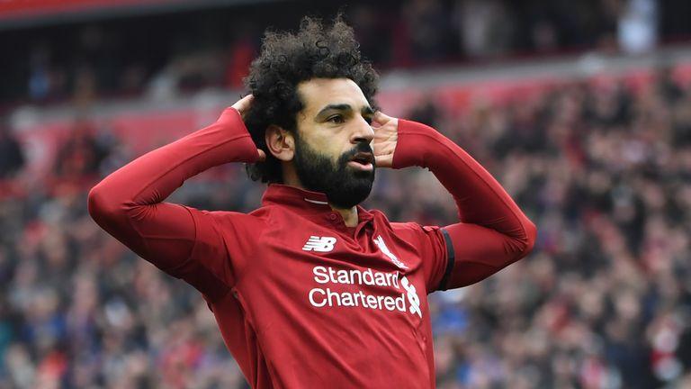 Salah's strike against Chelsea drew him level with Sergio Aguero on 19 goals as the Premier League's top scorer this season
