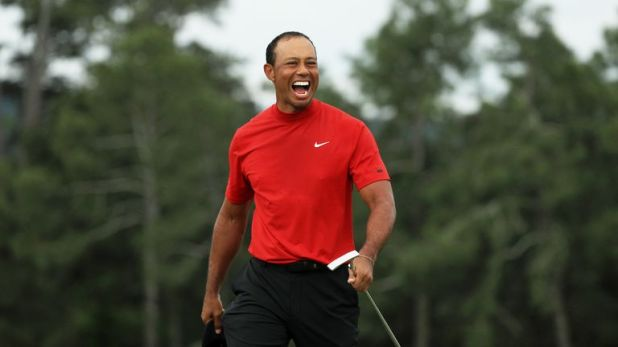Woods claimed a one-shot victory at Augusta in April