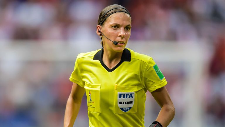 Stephanie Frappart will be the first female ref to take charge of a major UEFA men's match