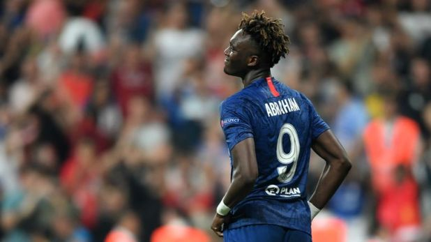 Chelsea's Tammy Abraham was abused online after missing the decisive penalty for Chelsea in the UEFA Super Cup in August
