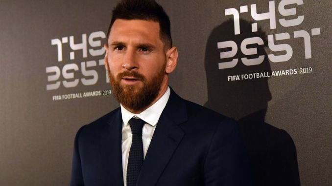Messi at The Best FIFA Football Awards 2019 held in Milan in September