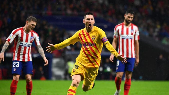 Messi produced a late winner for Barcelona against Atletico Madrid