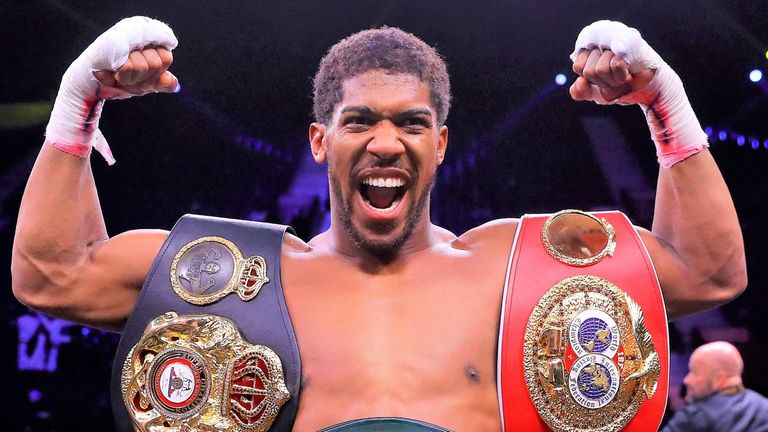 Anthony Joshua holds the WBA 'super' IBF and WBO titles