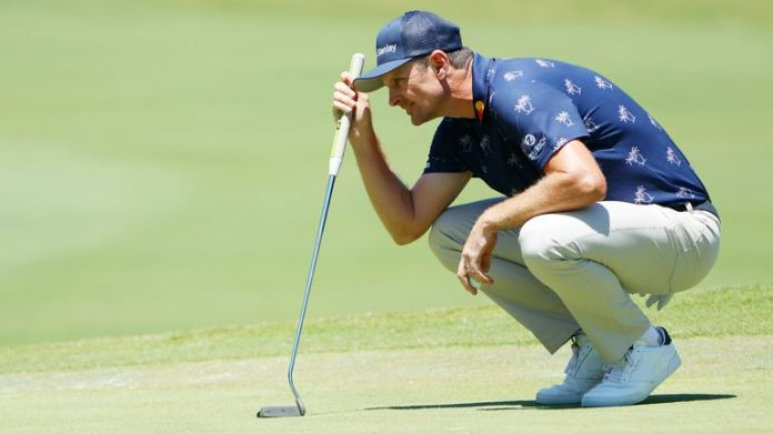 Justin Rose though he had made his birdie putt on 18