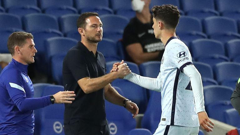 Frank Lampard was pleased with Kai Havertz despite a subdued debut