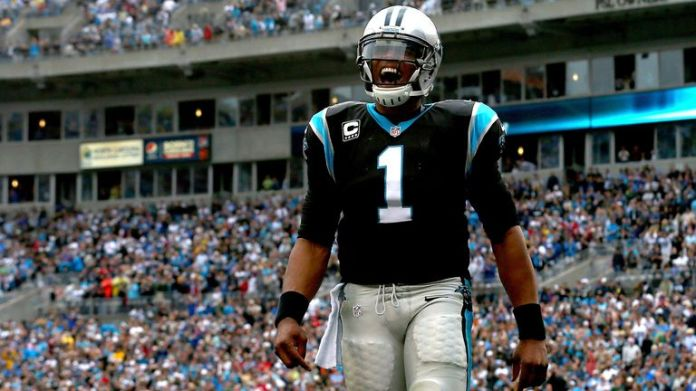 Cam Newton lived in the end zone for the early part of his Carolina Panthers career