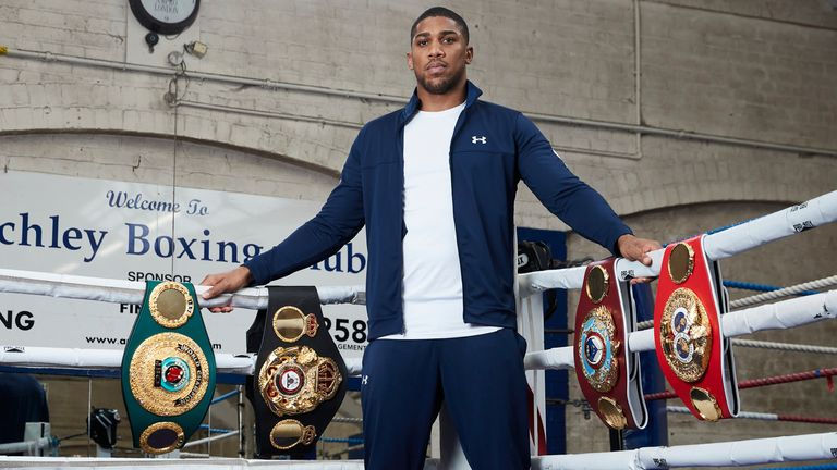 Joshua will put all his world titles at stake in Fury fight