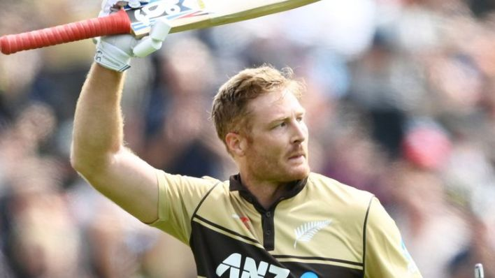Martin Guptill's eight sixes took him onto a record 132 in the T20 international format