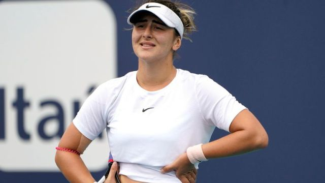 Bianca Andreescu is frustrated with continued injury setbacks