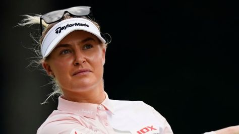 Charley Hull is in contention at the Aramco Team Series - London