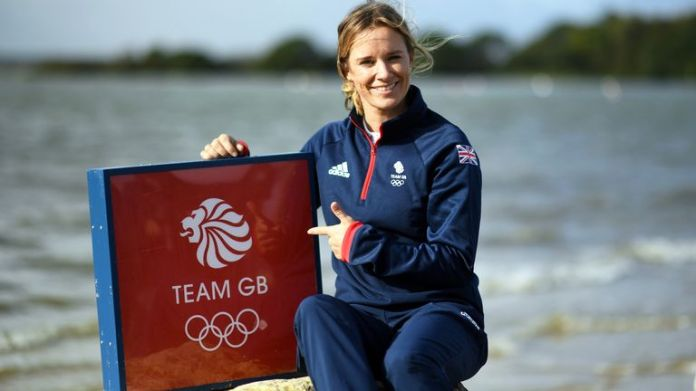 Hannah Mills will become the first female sailor to carry the Union flag