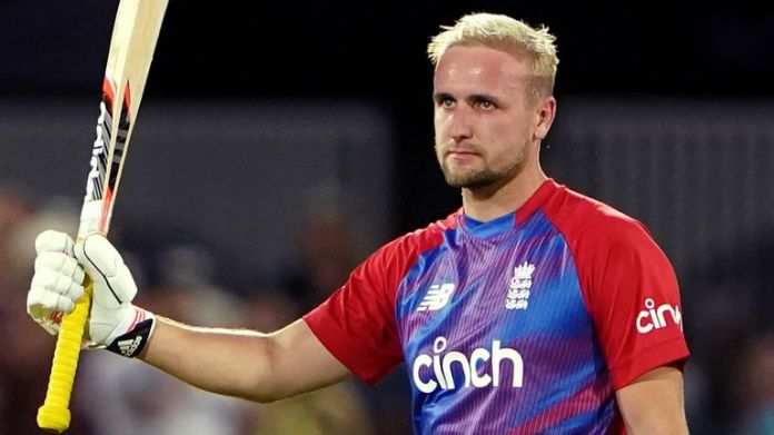 Liam Livingstone hit England's fastest-ever international hundred, from just 42 balls, in the T20 against Pakistan at Trent Bridge earlier this summer