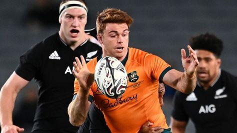 Andrew Kellaway grabbed two tries for Australia