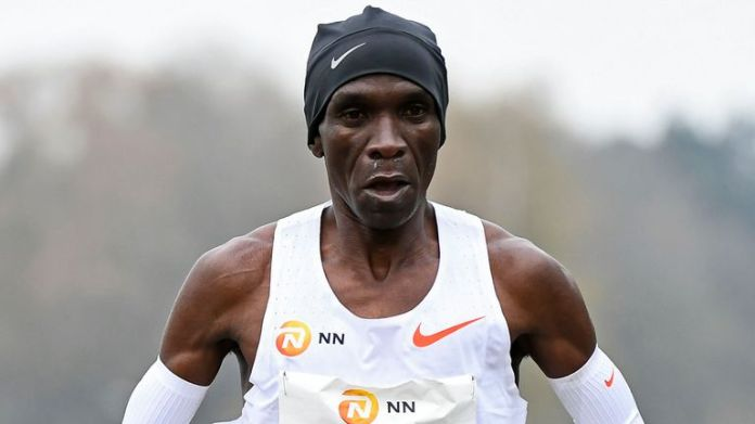 Marathon world record holder Eliud Kipchoge says running can provide people across the planet with hope, as he prepares to defend his Olympic title in Japan