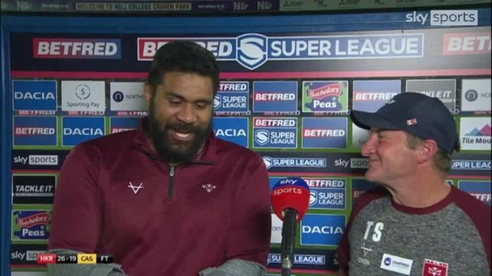Tony Smith showed his gratitude to Mose Masoe after Hull KR's win over Castleford, but felt their biggest win was seeing the former prop walking on the pitch