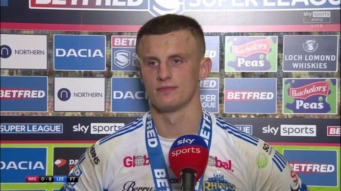 Ash Handley was named player of the match for Leeds as they beat Wigan 8-0 to secure their spot in the Super League semi-finals.