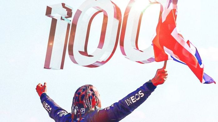 Lewis Hamilton became the first F1 driver to reach 100 career victories after winning the Russian Grand Prix in Sochi.