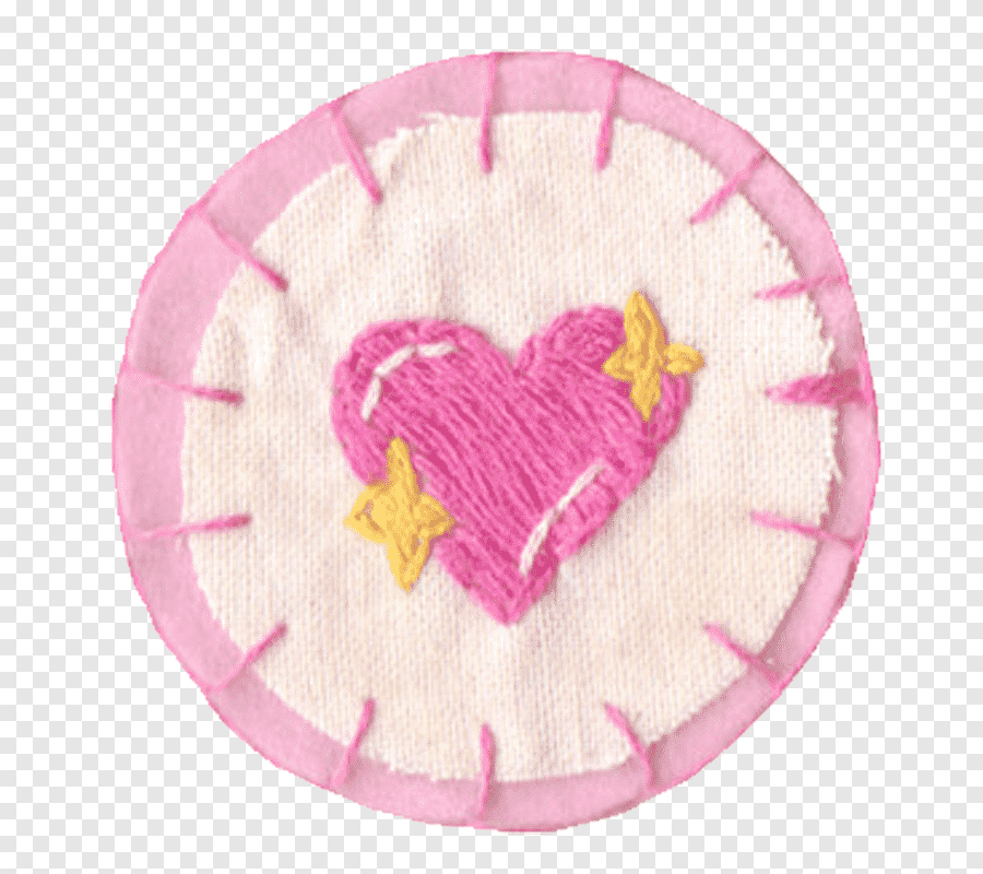 Aesthetic Pink Mega Round Pink White And Yellow Heart Embroidered Pot Holder Png Pngegg